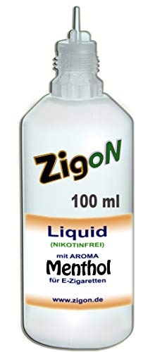 ZigoN E Liquid PP für E Zigaretten Shisha Verdampfer MENTHOL 100 ml