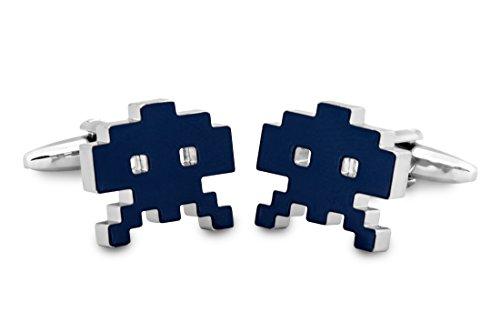 Sologemelos - Boutons De Manchette Space Invaders - Bleu - Hommes - Taille Unique