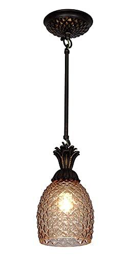 WGFGXQ Candelabro Decorar Luz de piña Luces Colgantes Americanas Dormitorio de una Sola Cabeza Lámpara de Techo Junto a la Cama Pasillo Entrada Barra de Bar Luces Colgantes Comedor Accesorios de il