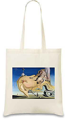 Tote bags Salvador Dalí - Face of the Great Masturbator Custom Printed 100{50db3364c2c21f45aeea04c34803aec01c7cfd6ba440159b7a1ff7bc22ee8897} Soft Cotton| Natural Color & Eco-Friendly| Unique, Re-Usable & Stylish Handbag For Every Day Use| Custom Shoulder Bags By