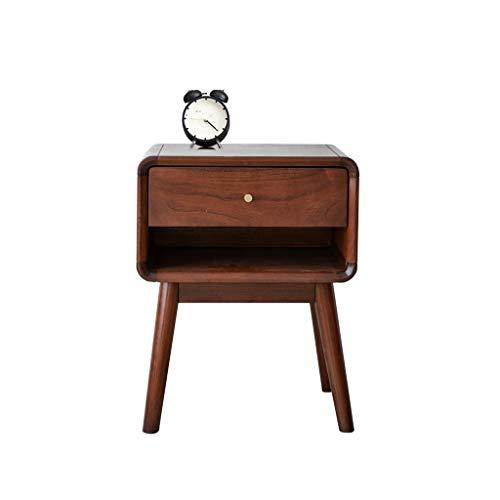 TXXM Nachttisch Schlafzimmer Spind, Schlafzimmer Nachttisch, Wohnzimmer Locker, Wohnzimmer Sofa Seitenschrank (Color : Red Walnut)