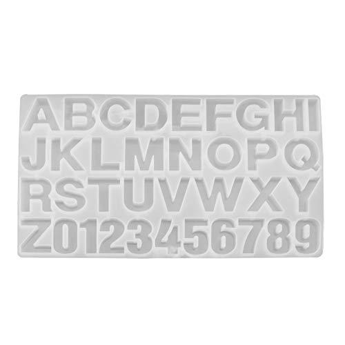 YINETTECH DIY Siliconen Letter Nummer Alfabet Gieten Vorm Versieren hars Sieraden Sleutelhanger Zeep Kaars Maken Ambacht