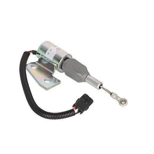 Fuel Solenoid Assembly - 24V Angle Bracket Case 9020B 9020B 821C 821C 621D 621D CX160 CX160 521D 521D 621B 621B CX130 CX130 9010B 9010B 621C 621C 9030B 9030B 850G 850G J991168 Cummins 3932530 3931590