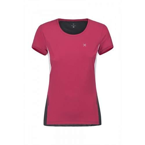 Montura Run Mix T-Shirt pour Femme Rose Sugar/Piombo, L