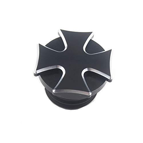 Cnc billet aluminium cross gear tankdeckel heizöl tankdeckel motorrad für harley softail sportster (black)