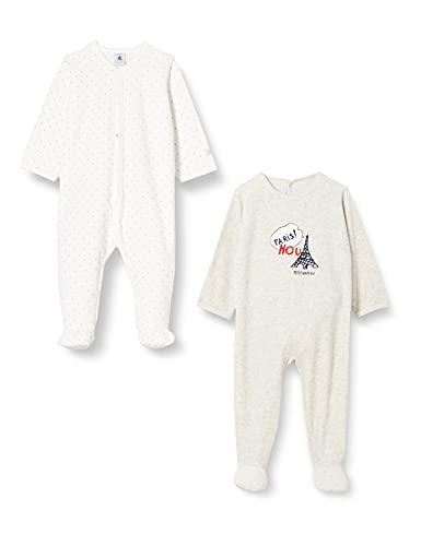 Petit Bateau A02U2 Camisn, Variante 1, 24 Meses (Pack de 2) para Bebés