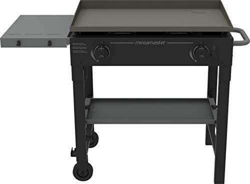 Megamaster 2 Burner Griddle Cart, Black