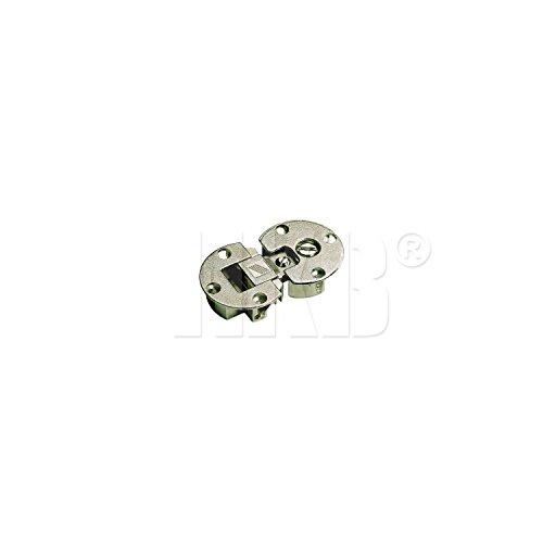 HKB ® 2 Stück Klappenscharnier Markant 11, 90°, ø 35 mm, Zinkdruckguss vernickelt, Hersteller Hettich, Artikel-Nr. 9100006