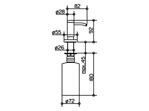 Keuco 14949170200 Plan Lotionspender, aluminium-finish