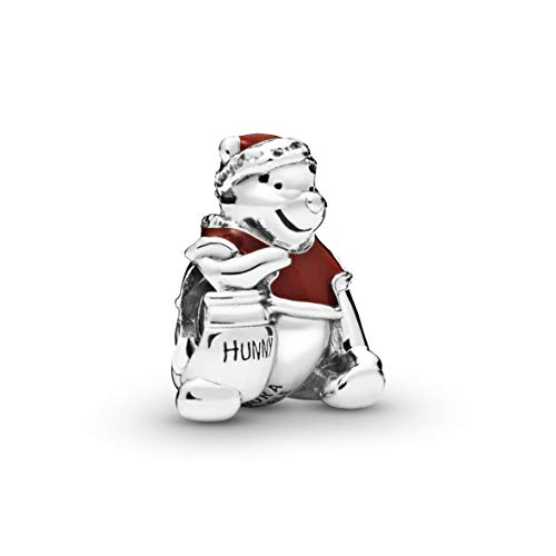PANDORA Disney Winnie the Pooh Hunny Pot Christmas 925 Sterling Silver Charm - 798451C01