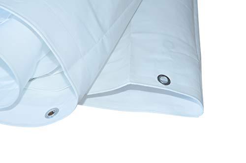 Bâche de protection en tissu Blanc 260 g/m² 6 x 8 m