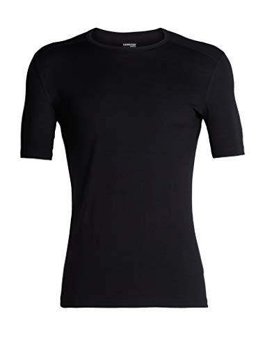 icebreaker Herren 200 Oasis SS Crewe T-Shirt, Black, L