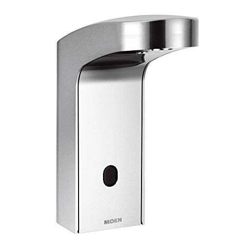 Moen 8551 Mpower Sensor Operated Single Mount Above Deck Lavatory High Arc Battery Powered Non Mixing Faucet