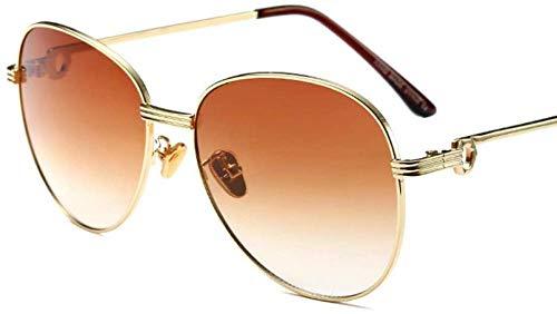 ZYIZEE Gafas de Sol Gafas de Sol Retro ovaladas para Mujer y Hombre Gafas de Sol para Mujer Gafas de Sol con Espejo de aleación Gafas Femeninas-C1