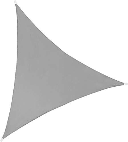 Idéprice toile d'ombrage triangulaire 3X3X3m polyester déparlent anti UV 140 gr/m2 gris anthracite, Gris Anthracite, 33 x 17 x 5 cm,