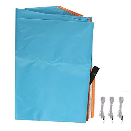 Solskyddsdepot, tältmarkis Högkvalitativ utomhus solskyddsgardin Firm Triangle Canopy Camping Markis UV-resistent utomhusmarkis för campingtält(blue)