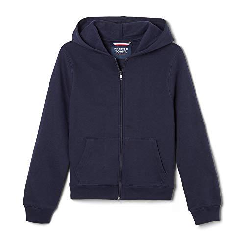 French Toast Boys' Fleece Hooded Sweatshirt, Navy, Medium/8,Big Boys