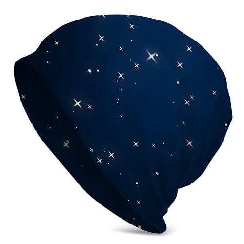 Jimbseo Night Sky Lleno De Skull Beanie Cap Hombres Sombrero De Invierno Para Diarios Y Deportes