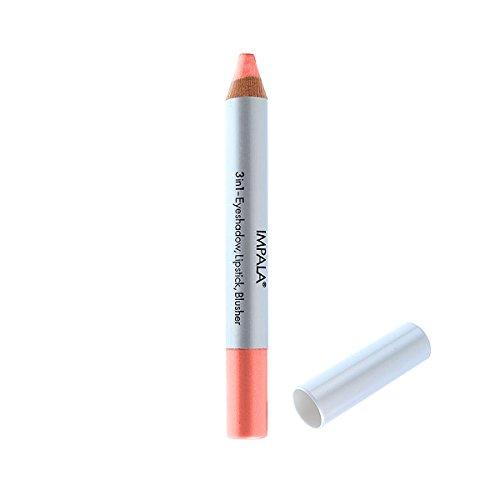 Impala Bleistift 3 in 1 Farbe 12 Lachs - Lidschatten, Lippenstift und Blusher