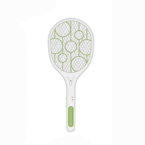 SSJY Tapette à moustiques électrique Moustique tapette Rechargeable ménage Super Puissant Batterie au Lithium pour chasser Les Mouches et Les moustiques 2 en 1 Tueur de moustiques Raquette Moustique