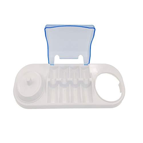 JZK Soporte para cepillo de dientes eléctrico con tapa, soporte para cepillo de dientes eléctrico, soporte para cepillo de dientes eléctrico Oral-B OralB Oral B