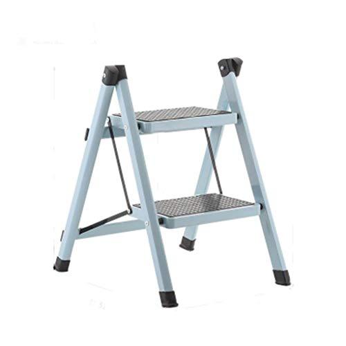 WGEMXC Taburete de Escalera, Taburete Plegable para el Hogar, Taburetes Multifuncionales, Escalera de la Escalera de la Escalera de la Escalera de Espiga de Dos Pasos Utensilios de la Cocina de la Fo