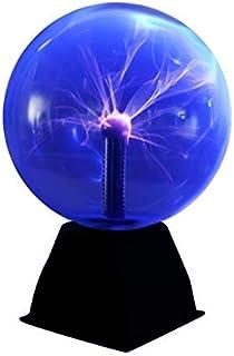 Luz de bola de plasma, luz de plasma mágica de 5 pulgadas, lámpara estática de globo táctil bola de plasma sensible al sonido, 220V, luz azul