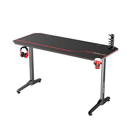 soges Gaming Table Desk Computer Desk Gamer Pro Mesas con Alfombrilla de ratón Grande en Forma de Mesa, Escritorio de PC, 140 * 60 * 75, NE-1460