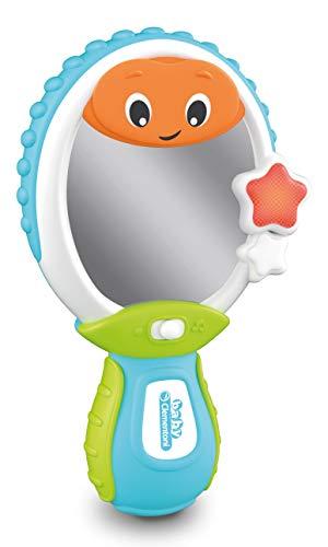 Baby Clementoni - 17329 - Baby Specchietto - Gioco Prima Infanzia - Giocattolo Elettronico Parlante Italiano (Batterie Incluse), Bambini 9 - 36 Mesi