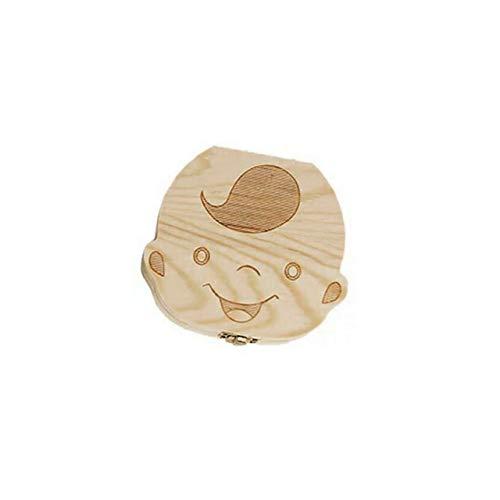 EmNarsissus Caja Creativa para Dientes de bebé, Caja de Almacenamiento de Ahorro, Soporte de Madera para niños, Caja organizadora, Recuerdo de Dientes de Leche para niñas y niños