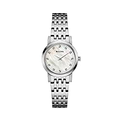 White MOP Diamond Dial Dress Watch