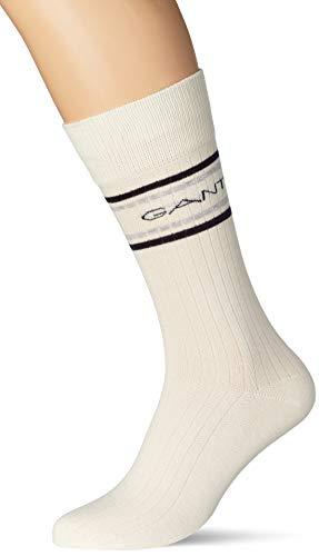 GANT Herren D1. Logo Stripe Socks 1-Pack, Eggshell, OneSize