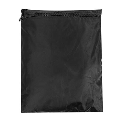 Bolsa de almacenamiento de cojín impermeable, paquete Oxford Bolsa para muebles de patio, Bolsa de cojín para muebles negra con cremallera y asas para proteger los muebles(173*76*51)