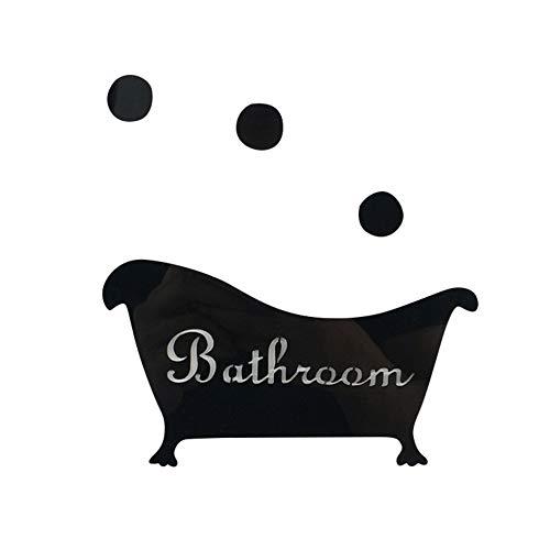 Fun Tür Eingang Zeichen Aufkleber Kinder Bad Badewanne Form Wandaufkleber Spiegel Aufkleber Dekoration Hauptdekoration Wandaufkleber 44cmx68cm