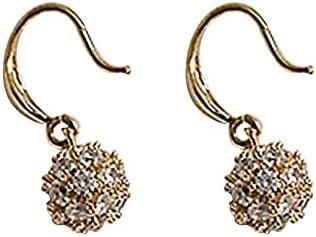 Simple Style Full Zircon Earrings Sweet Atmosphere Earrings Multiple Uniform Small Ball Shape Diamonds Earrings