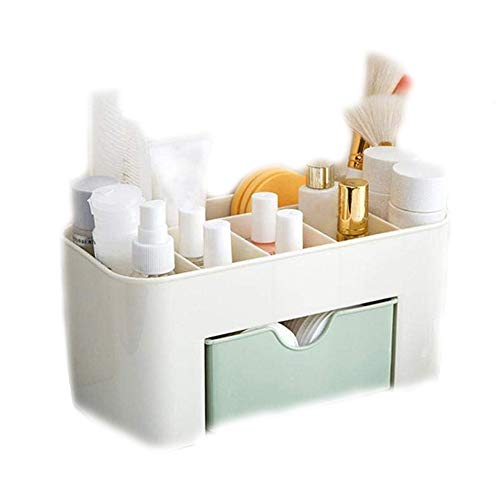 Anytec Desktop Chic Make Up Cosmetic Makeup Organizer Box Storage Drawer Jewelry Vanity Tray Office Home Supplies (Green)