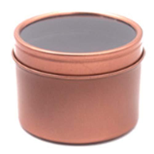 IREANJ Lot de 24 boîtes à montres rondes et profondes de 473,6 g avec couvercle transparent en fer blanc, boîte à montres, boîte de rangement, boîte de rangement multifonction