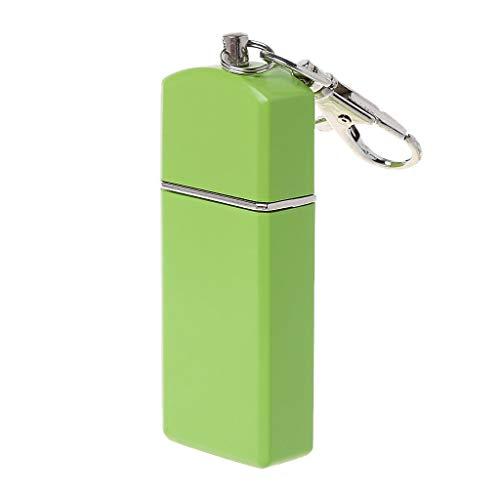 Noband Mini cenicero portátil de bolsillo resistente al viento casos llavero accesorio para fumar al aire libre JSFGFSDH