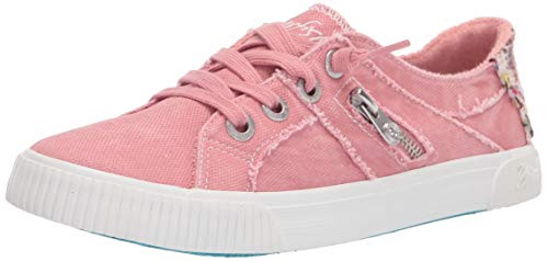 Blowfish Malibu Women's Fruit Sneaker, Dusty Pink Canvas, 8