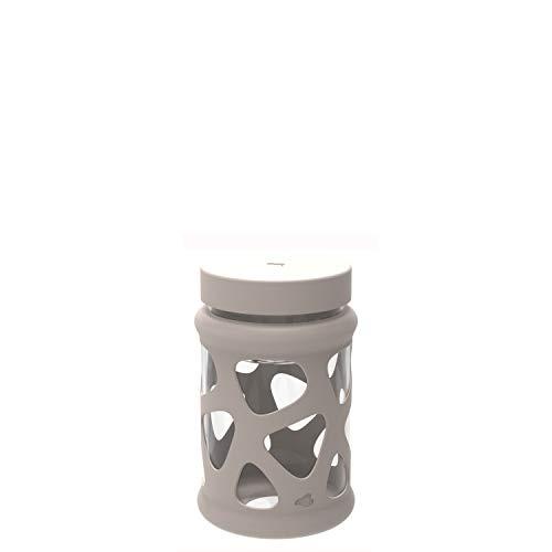 Leonardo Leonardo 29250 Speisebehälter In Giro 600 ml, Lunch-Box, Glas, Schutzhülle, spülmaschinenfest, stoßfest beige