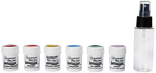 Colorfin Brusho Crystal Colours Craft Spritzer Set 6/Pkg