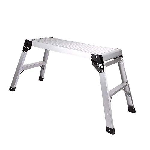 GJSN Outdoor Home Dual-Purpose Stap Kruk,Dikke Aluminium Car Wash Werkbank Opvouwbare Ladder Handige Viskruk Ascend Stap Ladder Indoor Outdoor - Lichtgewicht - Load 150Kg