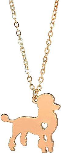 Collar de moda Collar de caniche Collar de perro personalizado Colgante Perro Joyería para mascotas Nuevo Cachorro Amante de perros Regalos para mujeres Hombres Collar de regalo Cadena colgante para