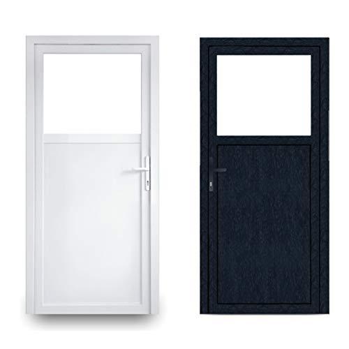 EcoLine Nebentür - Nebeneingangstür - Tür - 2-Fach, 1/3 Glas, 2/3 Füllung, außenöffnend innen: weiß/außen: anthrazit BxH: 1000 x 2000 mm DIN Rechts