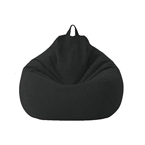 Geagodelia Copridivano per Divano Pigro Fodera per Divano Fodera per Poltrona A Sacco per Divano Bean Bag Cover (Senza Imbottitura) (70 * 80cm, Nero)