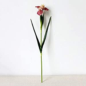 Artificial and Dried Flower PU Real Touch Orchid Artificial Flowers Hand Bouquet Floral Fake Flowers Home Decor Wedding Alice Iris Garden Decoration