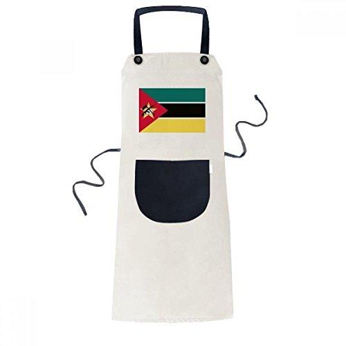 BeatChong Bandera De País De África Mozambiquenational Cocina Para Cocinar El Babero Ajustable Amarillento Regalo Mujeres Bolsillo Del Delantal Del Cocinero Hombres