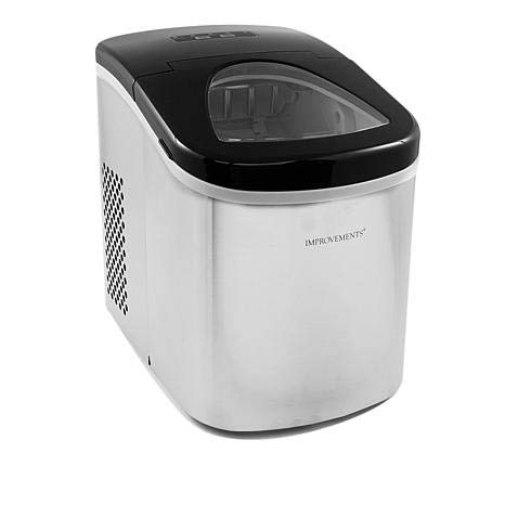 Improvements Compact Stainless Steel Ice Maker - Silver