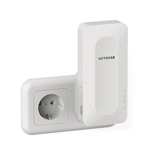 NETGEAR Ripetitore WiFi 6 Mesh EAX15, WiFI Extender con 1 porta LAN e 4 stream, ripetitore WiFi wireless compatibile con modem fibra e adsl