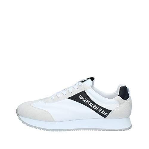 Calvin Klein Jerrold White S0615 Zapatillas para Hombre, 44